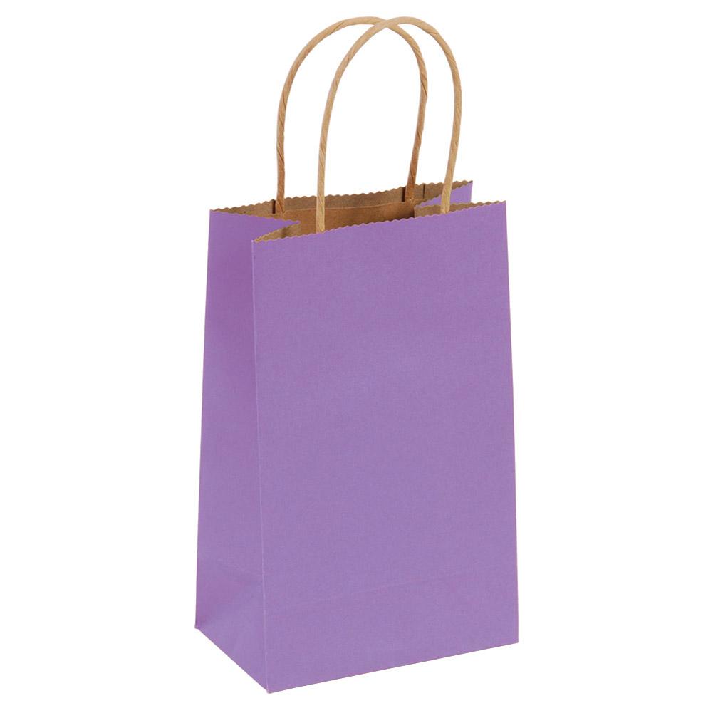 Narrow Medium Purple Kraft Gift Bags