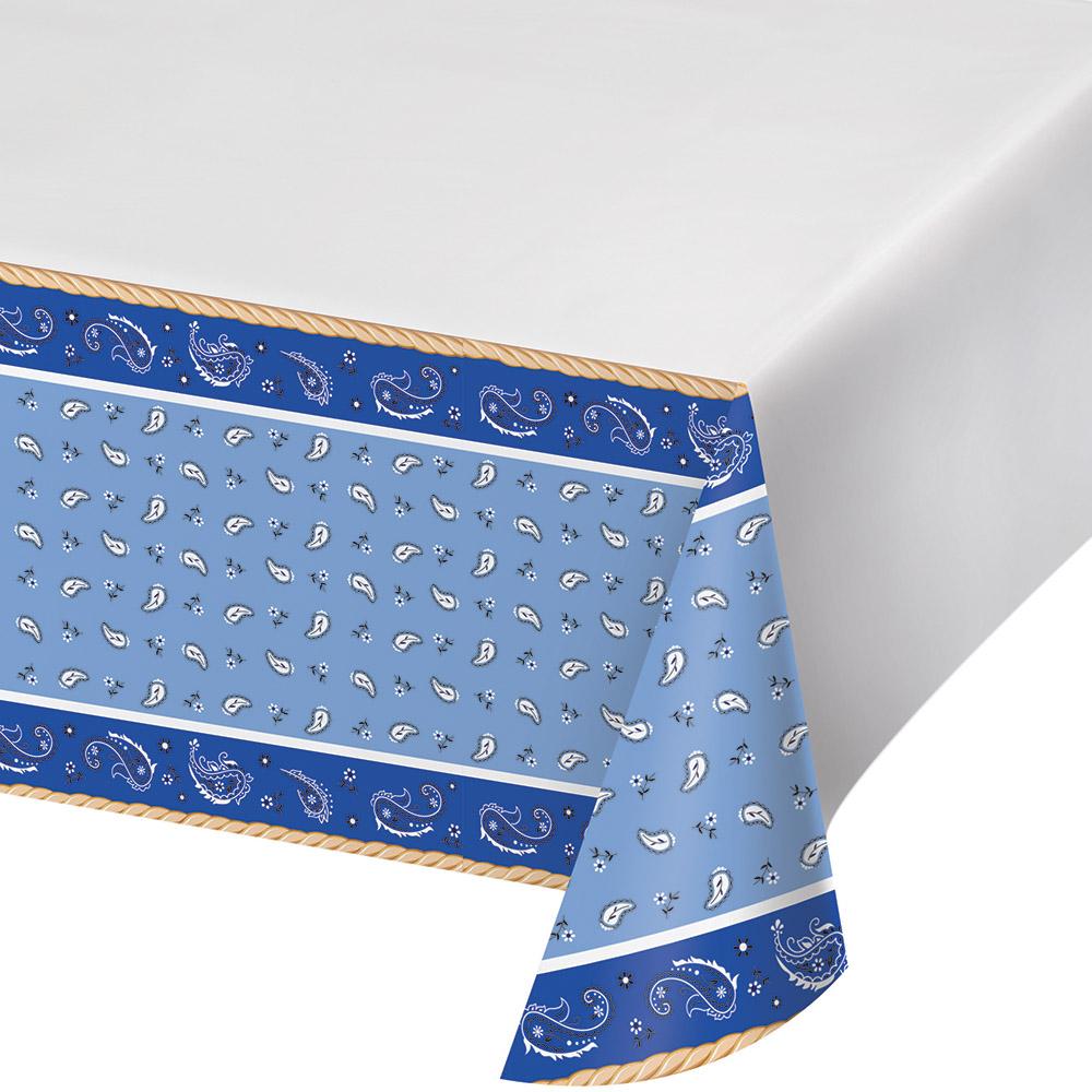 Blue Bandana Cowboy Table Cover