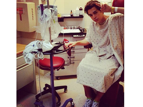 Austin Mahone was rushed to the hospital