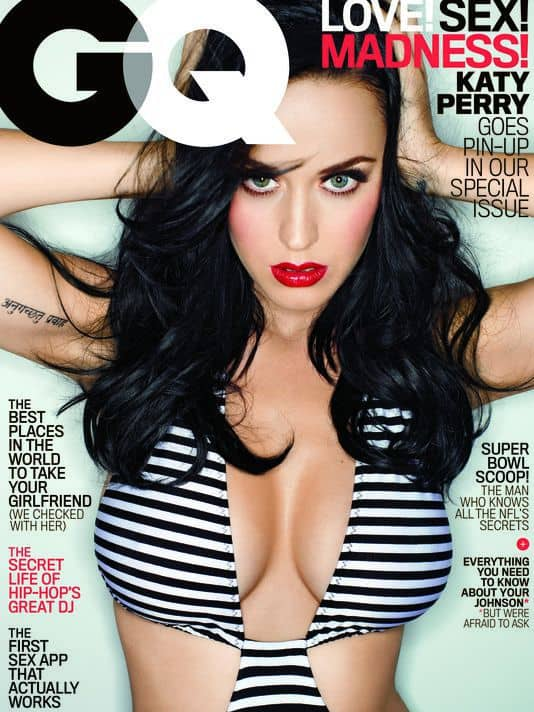 """Katy Perry shows off her God-given """"talents"""" on the cover of """"GQ"""""""