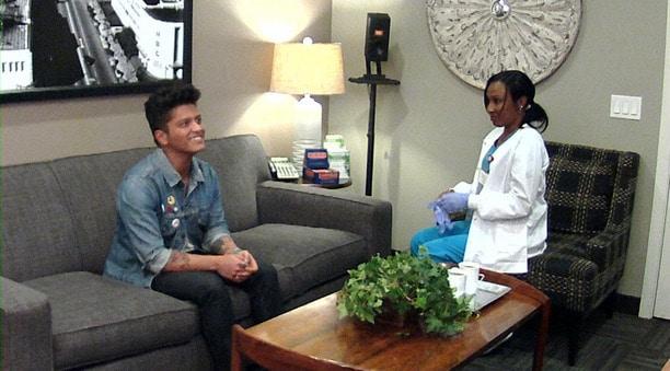 Ellen's in Bruno Mars' Ear on Ellen Show