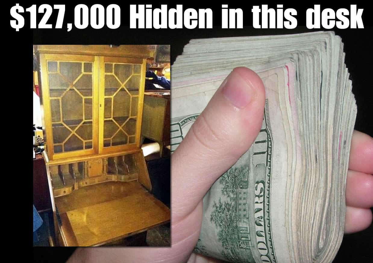 A Guy Found $127,000 in a Desk He Bought for 40 Bucks  (What would you do?)