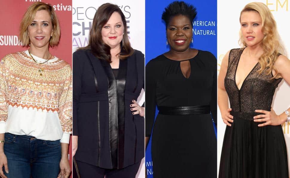 Your Female Ghostbusters Are Kristen Wiig, Melissa McCarthy, Kate McKinnon, and Leslie Jones
