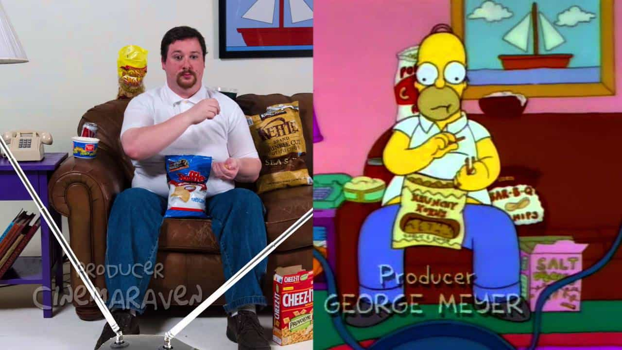 """A Guy Recreated a Scene from """"The Simpsons"""" in Real Life"""