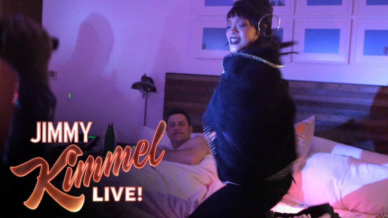 RIHANNA pranks JIMMY KIMMEL  (Video)