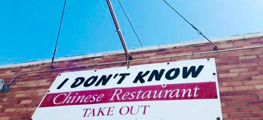 """A Woman Named Her Restaurant """"I Don't Know"""" . . . Because That's Where Her Kids Always Say They Want to Go"""