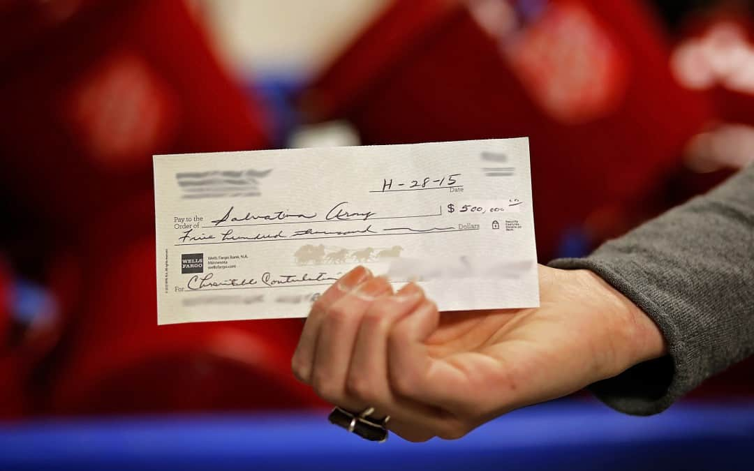 Someone Left a Check for Half-a-Million Dollars in a Salvation Army Kettle