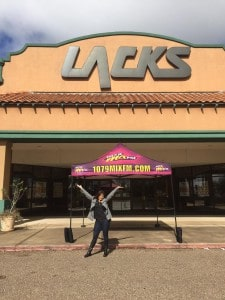 We are live in Brownsville at Lacks Furniture located at 1405 Ruben Torres Free For You Event where you can win your furniture purchase up to $20,000!  Hurry because these deals won't last long it's Lacks Furniture and 107.9 Mix FM