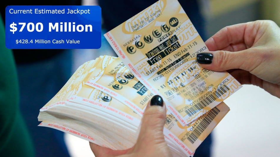 $700 Million Powerball Drawing Tomorrow Is the Biggest Jackpot in History