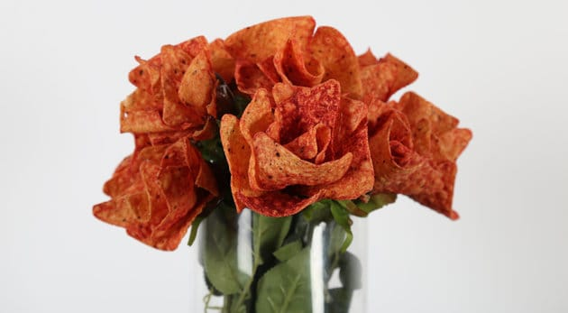 Here's How to Make Roses Out of Doritos For Valentine's Day