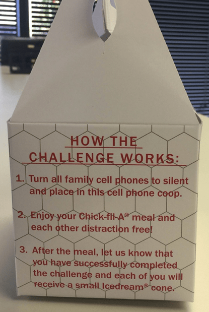 Chick-fil-A Will Give Your Family Free Ice Cream If You Don't Use Your Phones for an Entire Meal