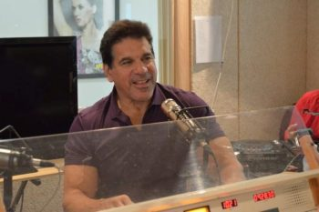"Lou Ferrigno ""The Incredible Hulk"" who stopped by the 107.9 Mix Fm station this morning!"