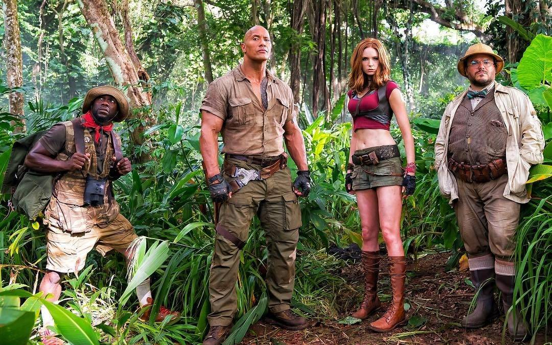 "Check out some pictures of THE ROCK on the set of the new ""Jumanji"" movie"