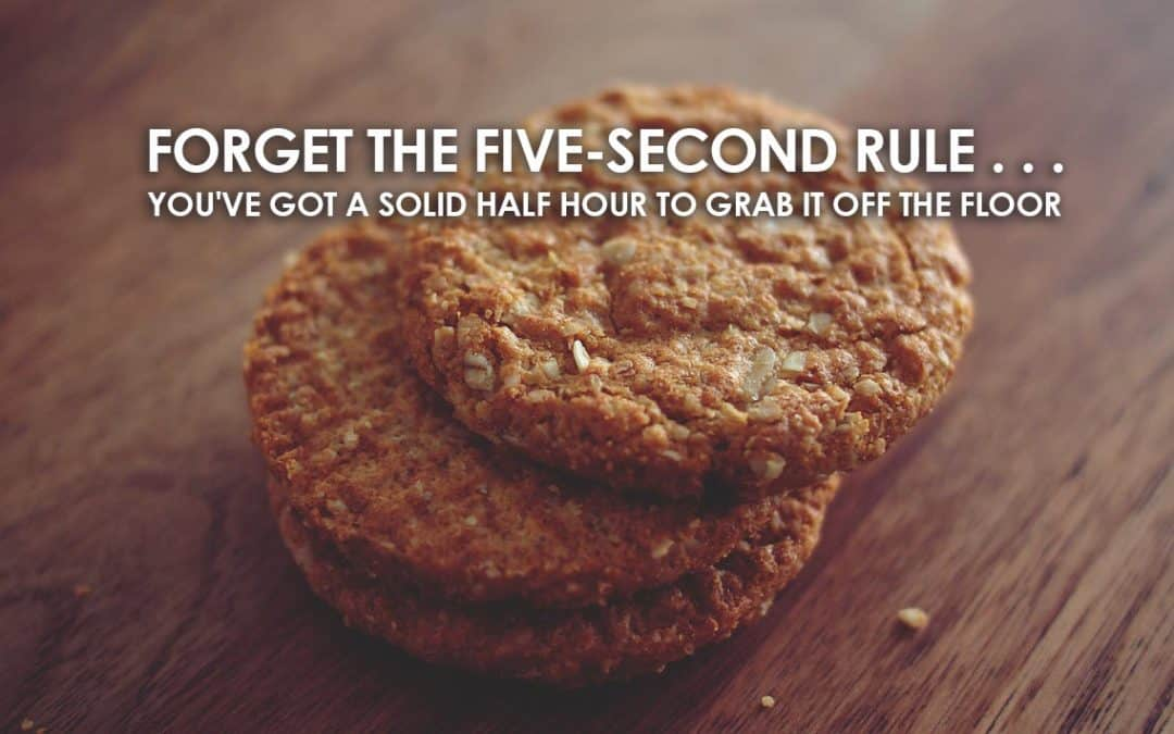 Forget the Five-Second Rule . . . If You Drop a Cookie, You've Got a Solid Half Hour to Grab It Off the Floor