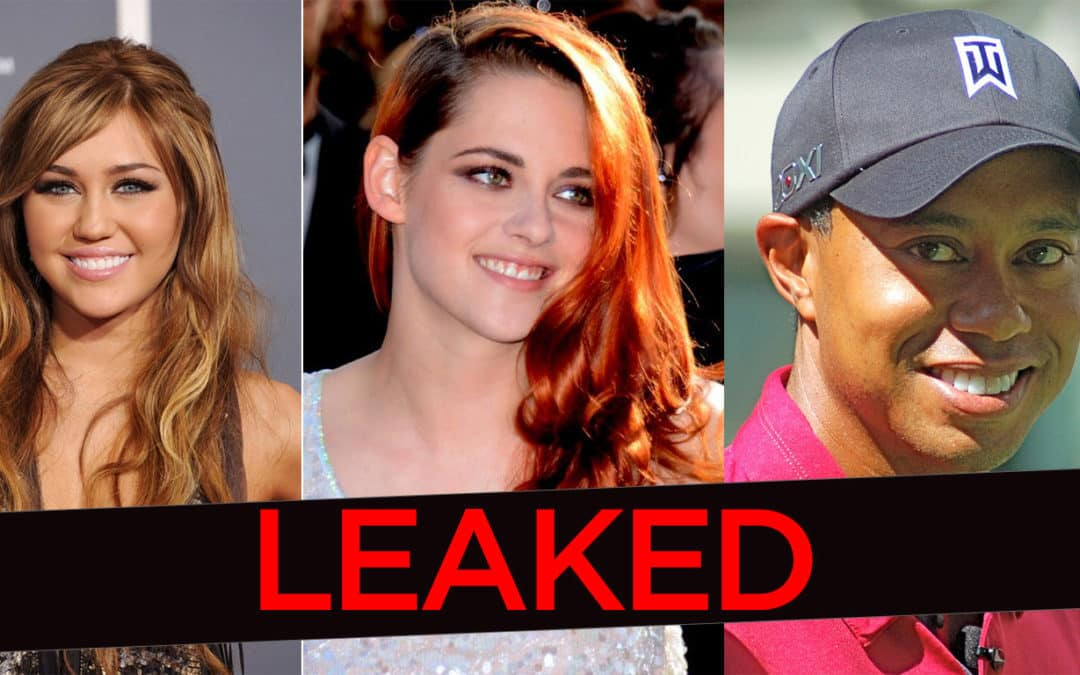 Tiger Woods, Lindsey Vonn, Katherine McPhee, Kristen Stewart, and Miley Cyrus Had Nude Photos Leaked