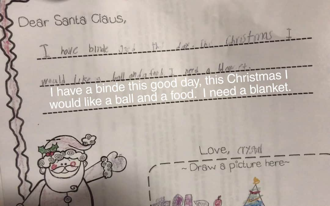 Local 7-year-old asks Santa for blanket, food in heartbreaking Christmas letter