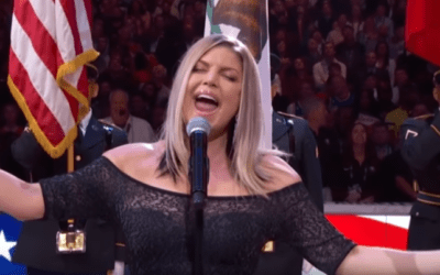 After Fergie's disastrous Anthem Performance… her Ex brought her flowers