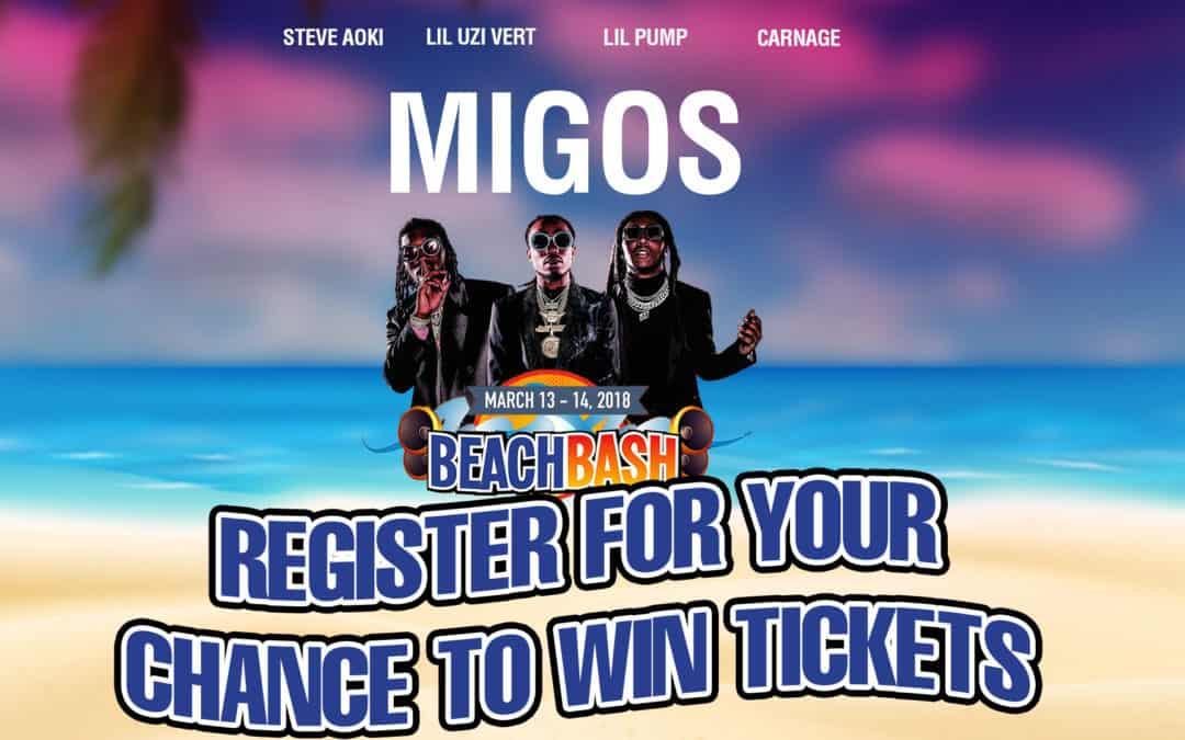 Win Tickets to Beach Bash Music Fest on Spring Break