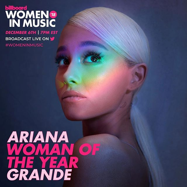 "Ariana Grande has been named ""Billboard's"" Woman of the Year"