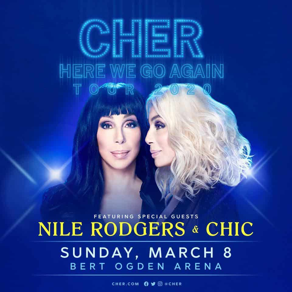 Register for your chance to win tickets to see Cher at the Bert Ogden Arena 8
