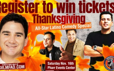 Register for your chance to win tickets to see the All-Star Latino Comedy Special Hosted by Valente Rodriguez