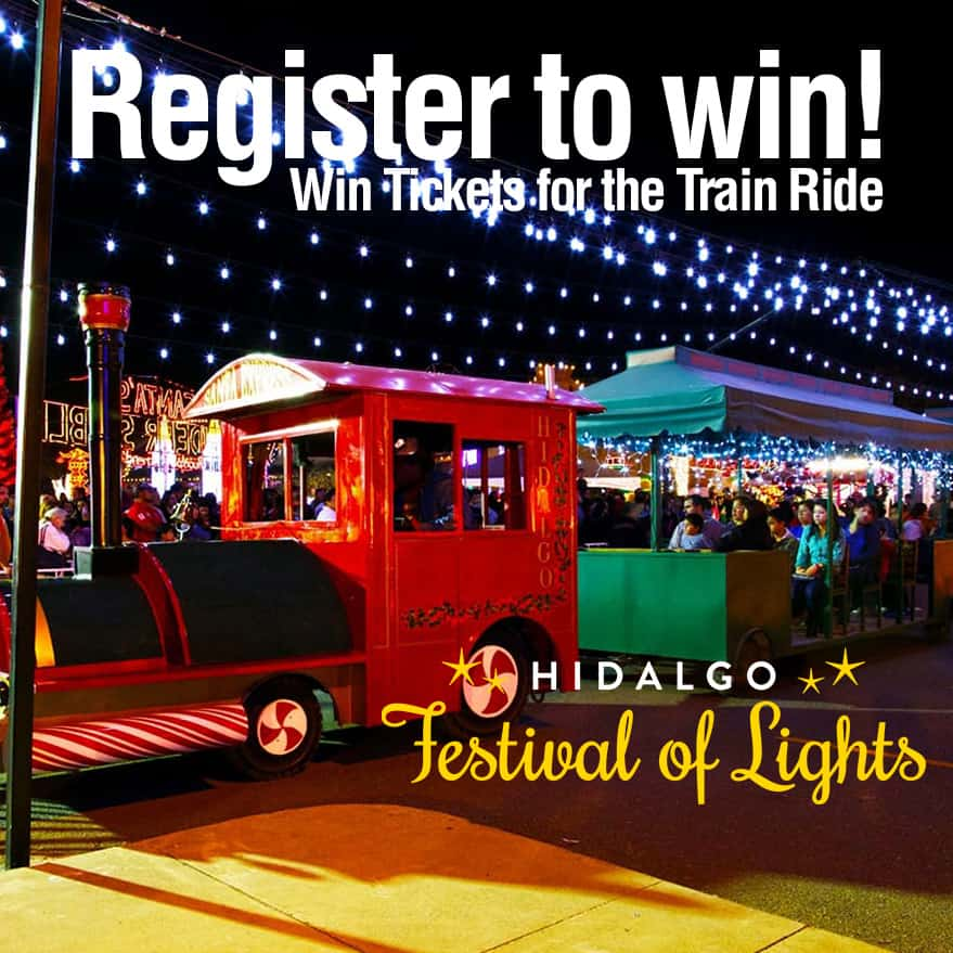 Register for your chance to win train tickets to the Hidalgo Festival of Lights