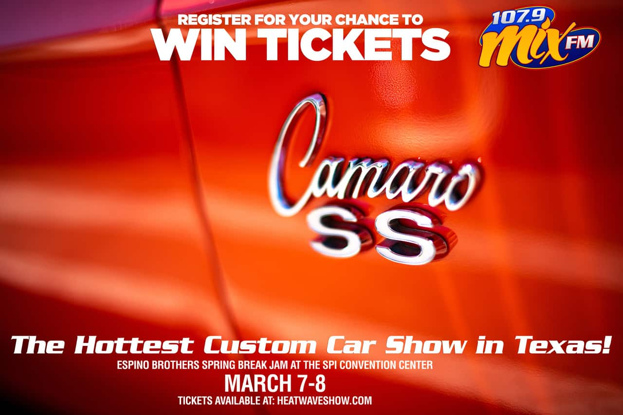 Exciting Chance for your to win tickets to the Popular Espino Brothers Spring Break Jam Custom Car Show on March 7 and 8th at the SPI Convention Center! heatwaveshow.com