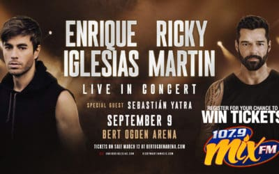 Win a pair of tickets to the Legendary Enrique Iglesias & Ricky Martin Concert!