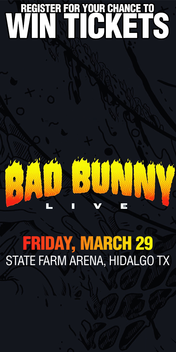 Register to Win tickets to see Bad Bunny Live on March 29th