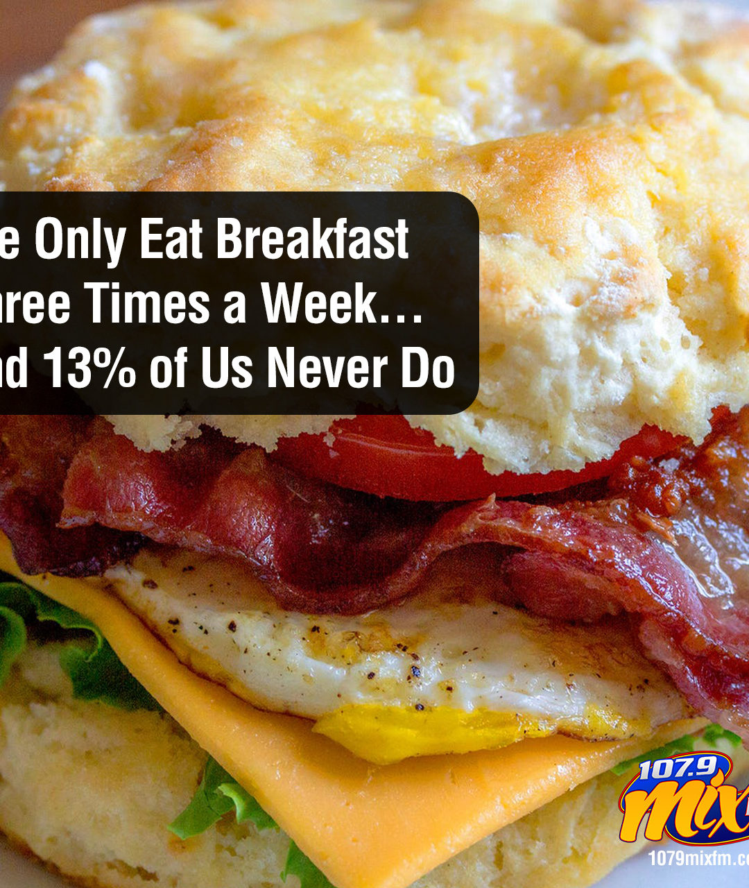 We Only Eat Breakfast Three Times a Week . . . and 13% of Us Never Do