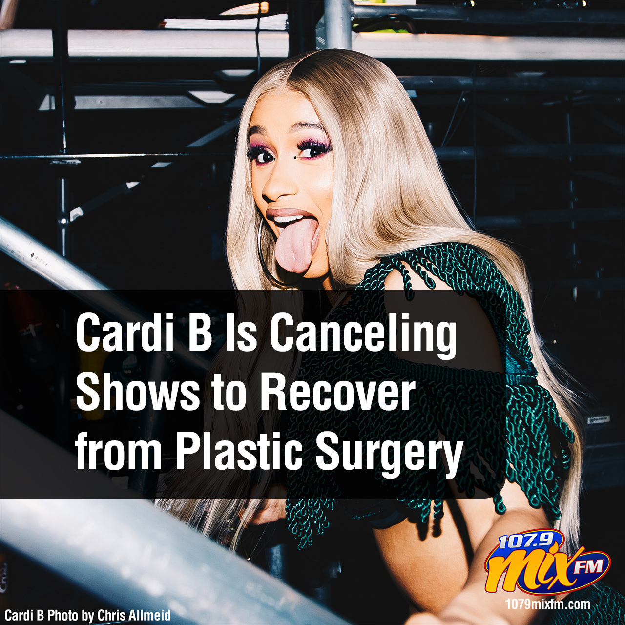 Cardi B Is Canceling Shows… to Recover from Plastic Surgery