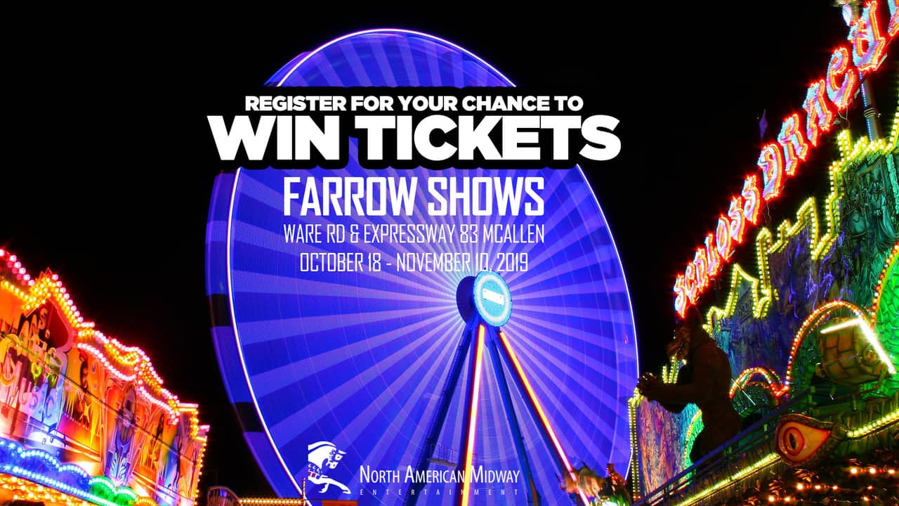 Register for your chance to win tickets to Farrow Shows!