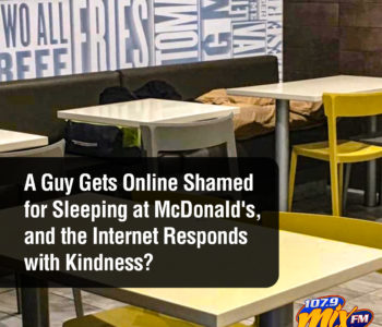 A Guy Gets Online Shamed for Sleeping at McDonald's, and the Internet Responds with Kindness? 3