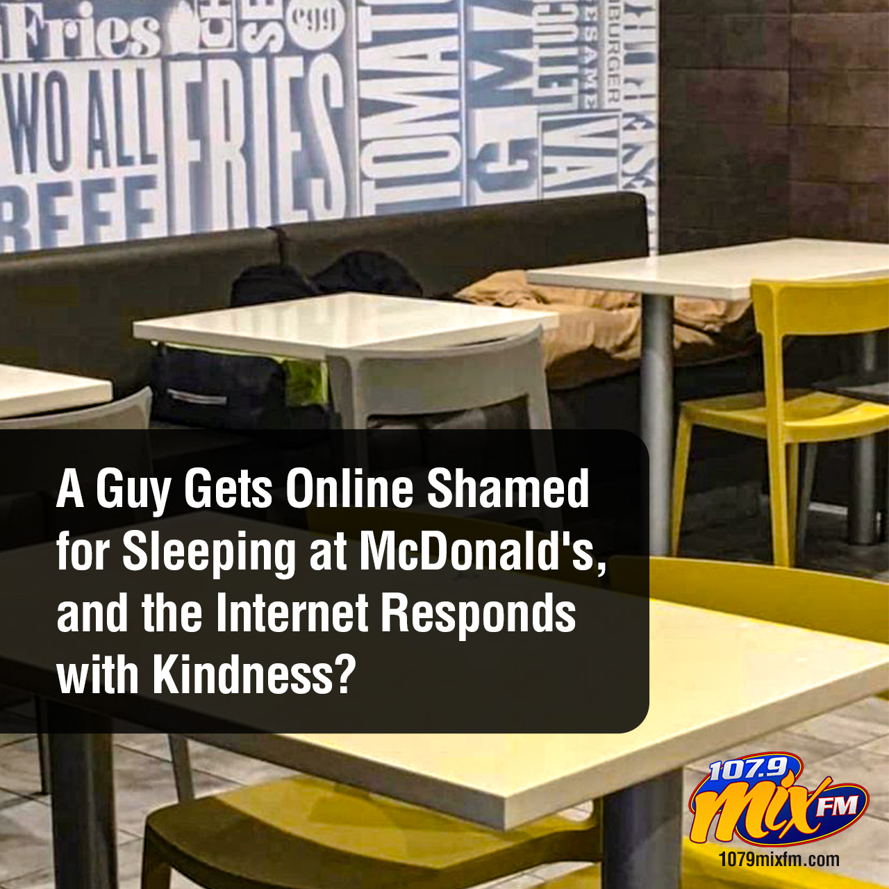 A Guy Gets Online Shamed for Sleeping at McDonald's, and the Internet Responds with Kindness?