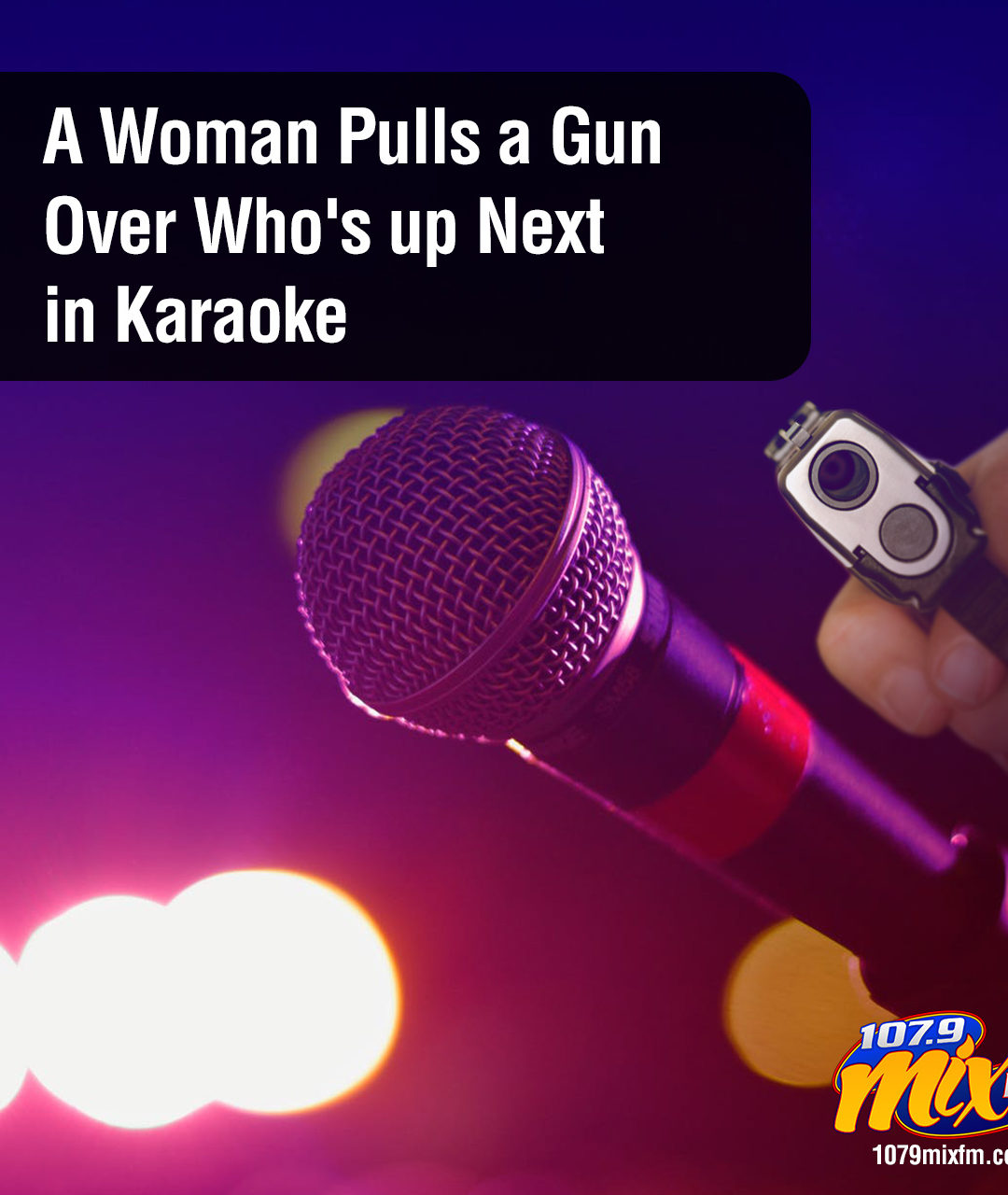 A Woman Pulls a Gun Over Who's up Next in Karaoke