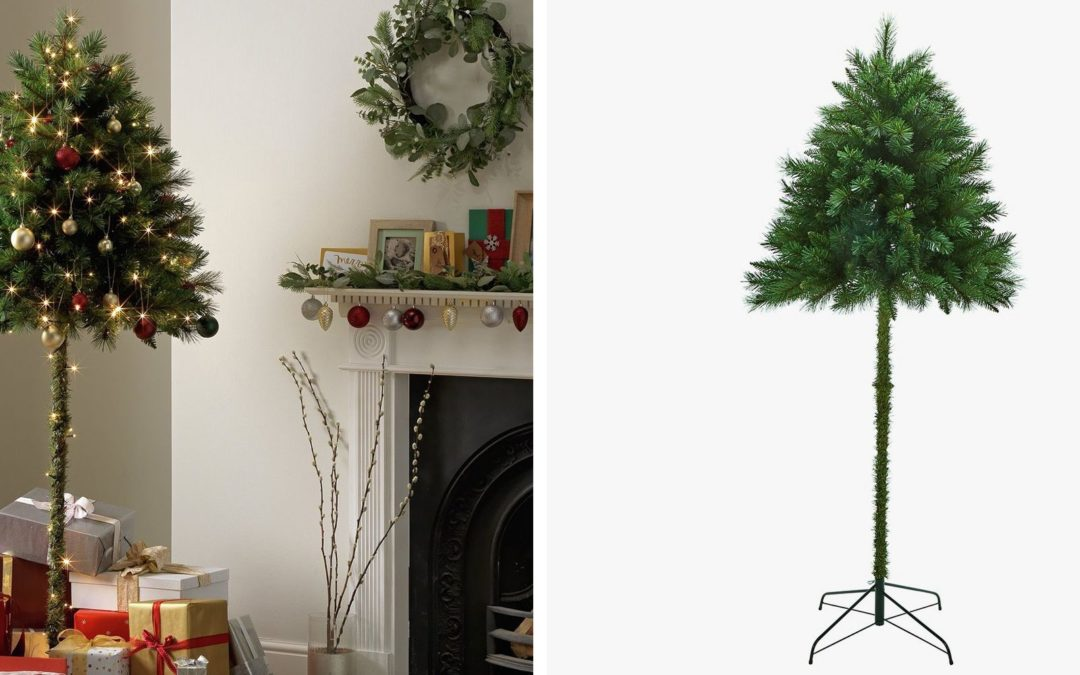 """Half"" Christmas Trees Could Solve the Problem of Pets and Toddlers Versus Normal Trees"