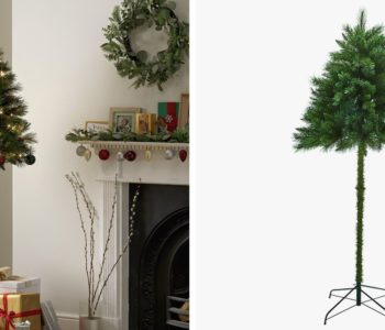 """""""Half"""" Christmas Trees Could Solve the Problem of Pets and Toddlers Versus Normal Trees 4"""