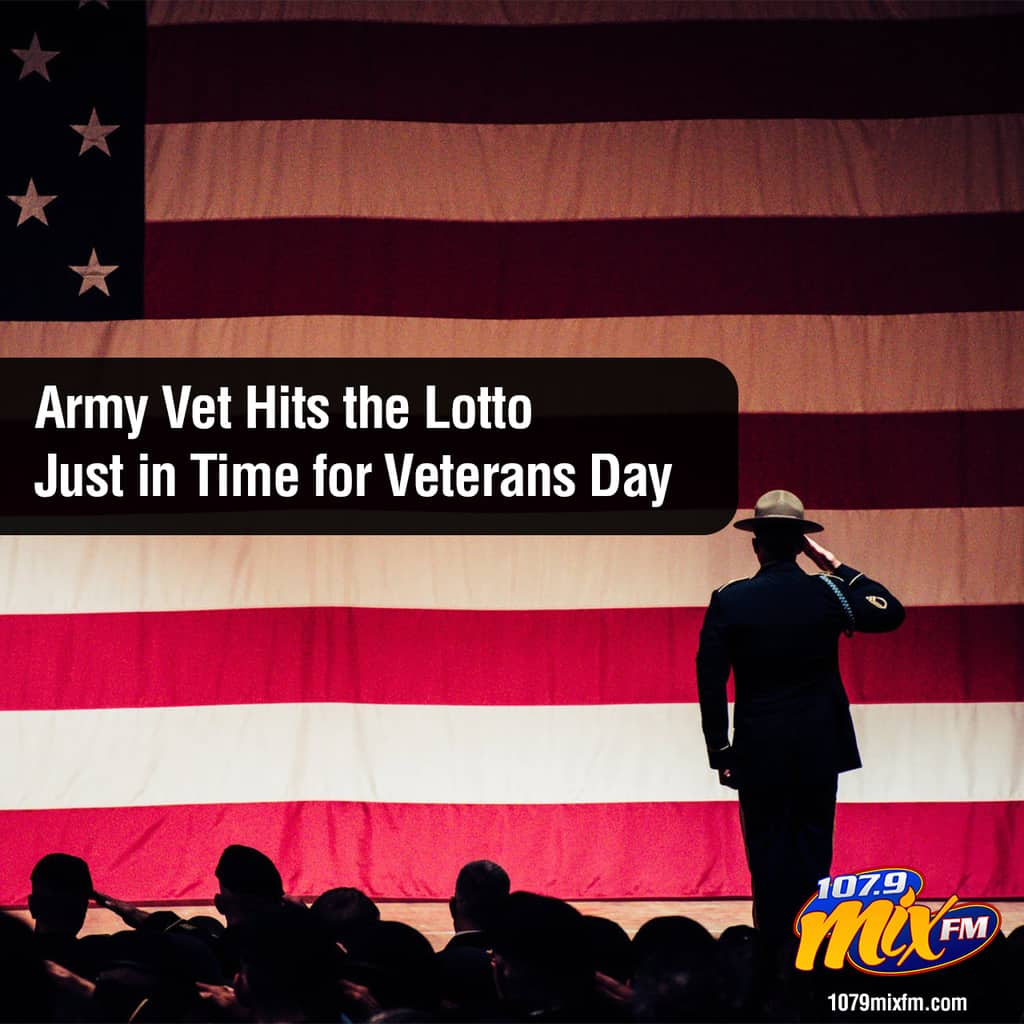 Army Vet Hits the Lotto Just in Time for Veterans Day