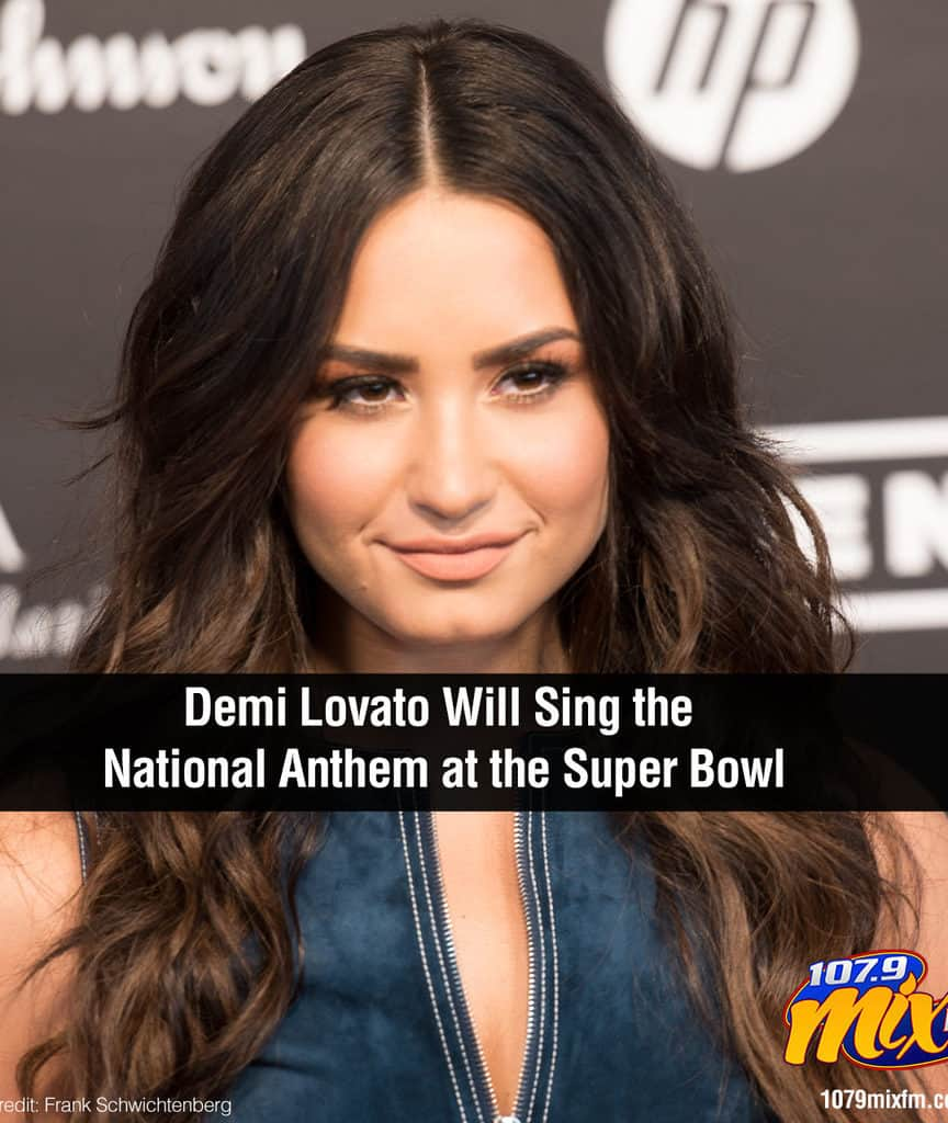 Demi Lovato Will Sing the National Anthem at the Super Bowl