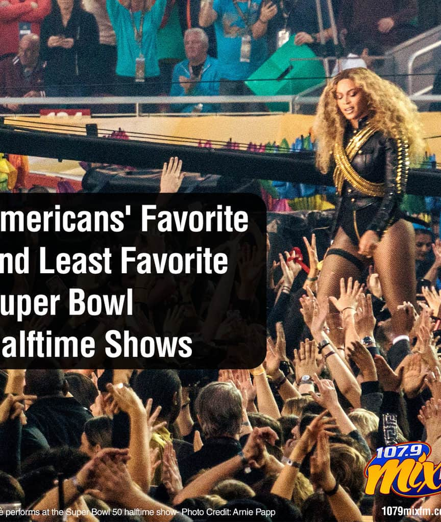 Americans' Favorite and Least Favorite Super Bowl Halftime Shows