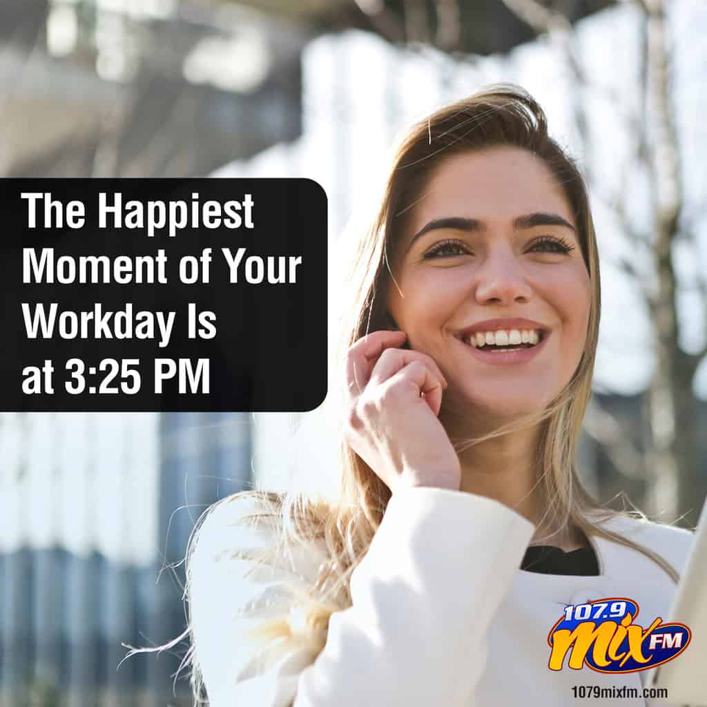 The Happiest Moment of Your Workday Is at 3:25 PM