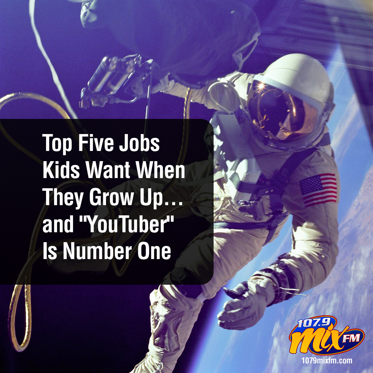 "Top Five Jobs Kids Want When They Grow Up… ""YouTuber"" Is Number One"