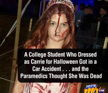 A College Student Who Dressed as Carrie for Halloween Got in a Car Accident . . . and the Paramedics Thought She Was Dead 3
