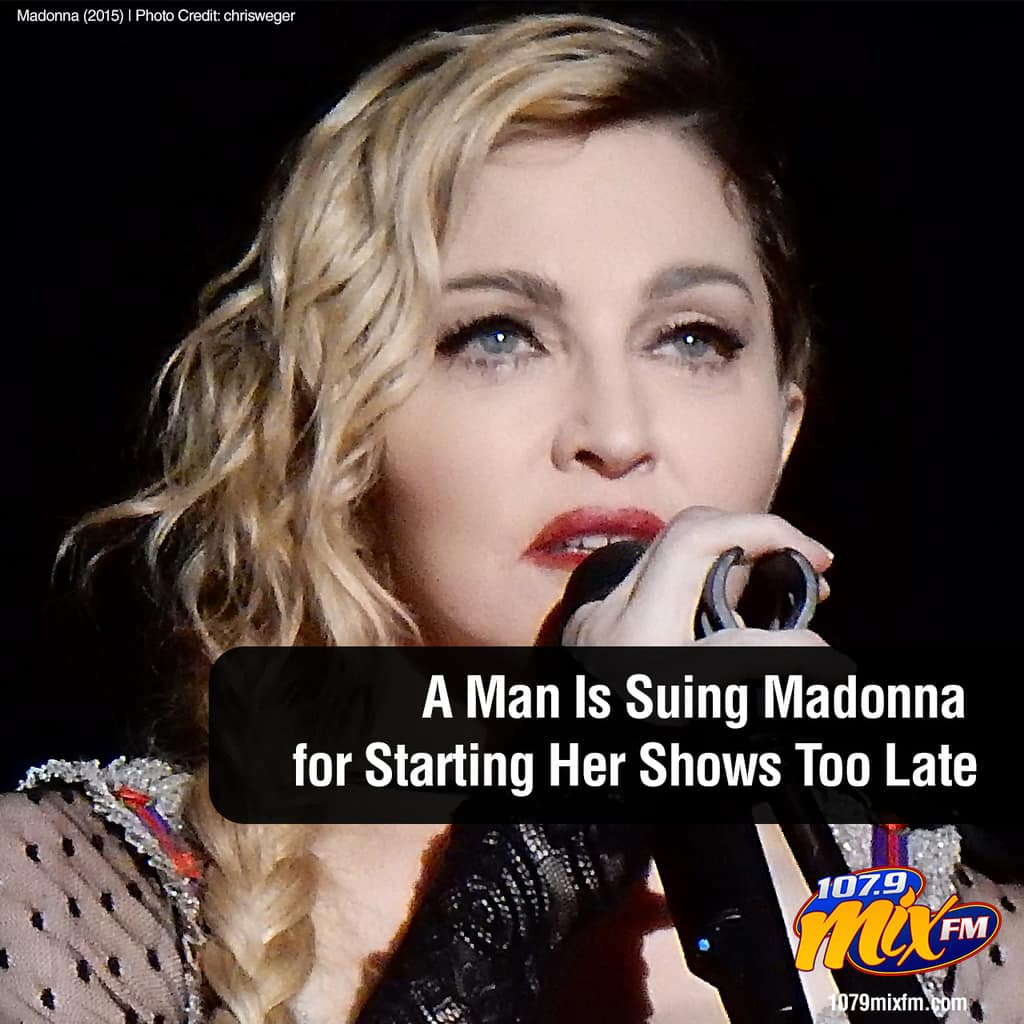 A Man Is Suing Madonna for Starting Her Shows Too Late