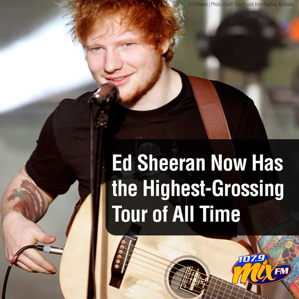 Ed Sheeran Now Has the Highest-Grossing Tour of All Time