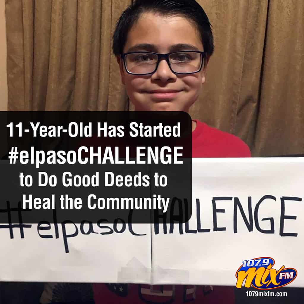 "An 11-Year-Old Has Started the ""El Paso Challenge"" to Do Good Deeds to Heal the Community"