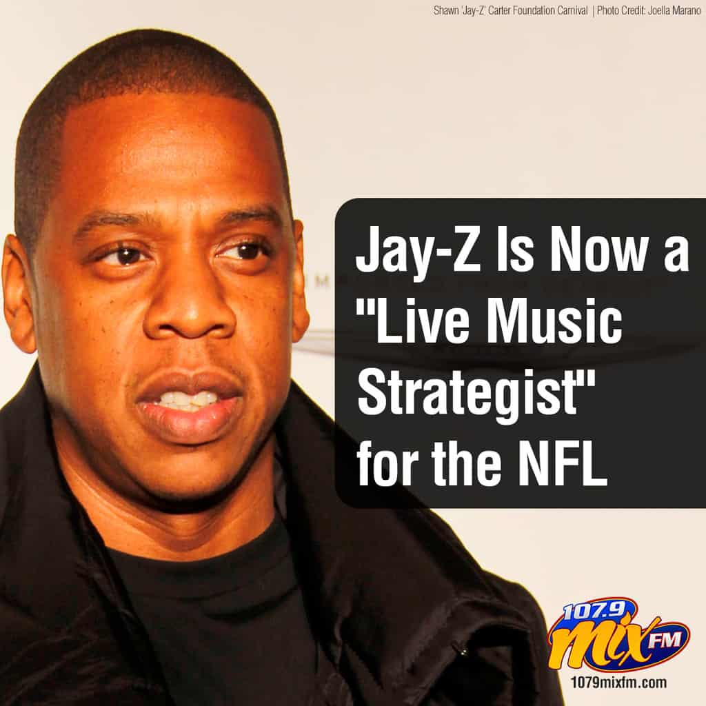 """JAY-Z has entered into a partnership with the NFL that  will make him their, quote, """"live music entertainment strategist.""""   He'll also be closely connected to the league's activism efforts."""