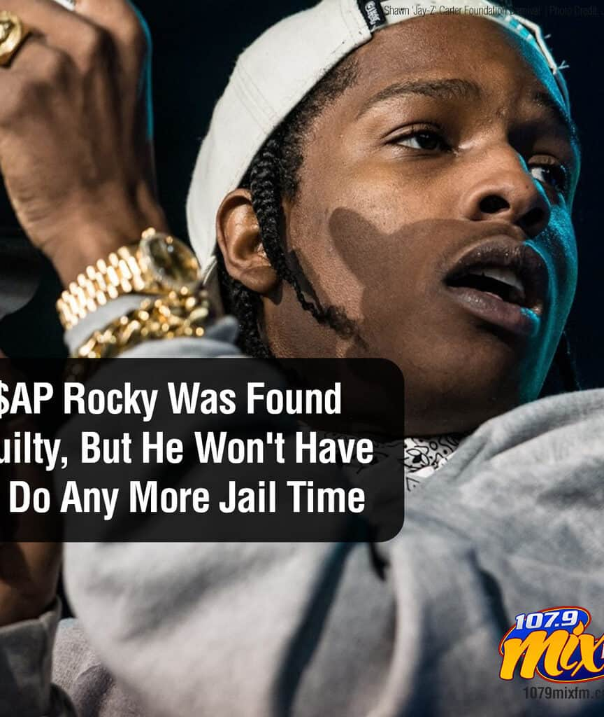 A$AP Rocky Was Found Guilty, But He Won't Have to Do Any More Jail Time