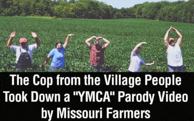 """The Cop from the Village People Took Down a """"YMCA"""" Parody Video by Missouri Farmers"""