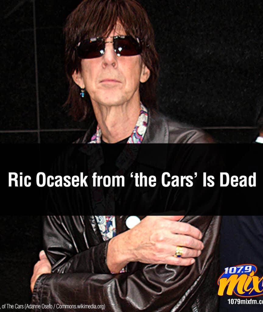 Cars Singer Ric Ocasek Is Dead